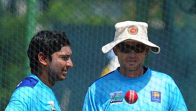 Close relationship: Sangakkara and Graham Ford.