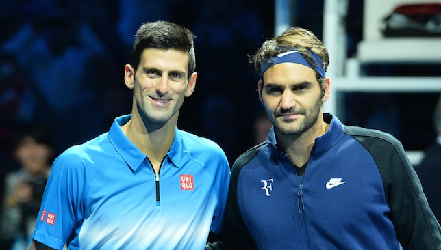 Ongoing rivalry: Djokovic and Federer.