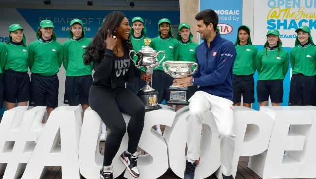 World No.1s and defending champions Novak Djokovic and Serena Williams get ready for the Australian Open.