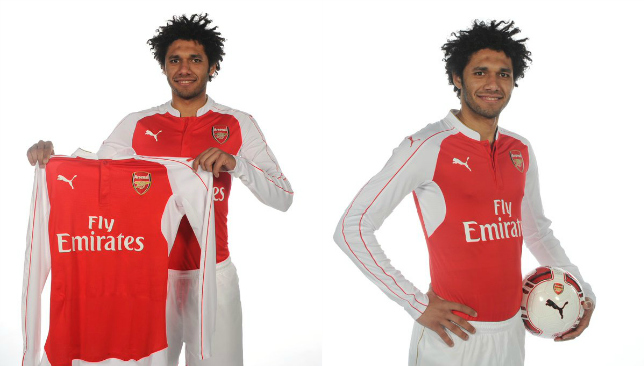 Elneny in his new Arsenal gear.