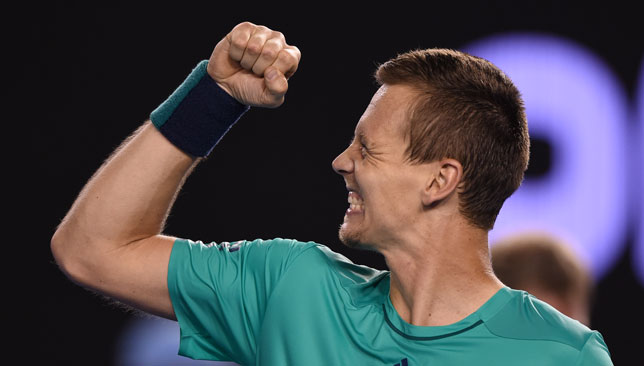 Berdych after claiming victory.