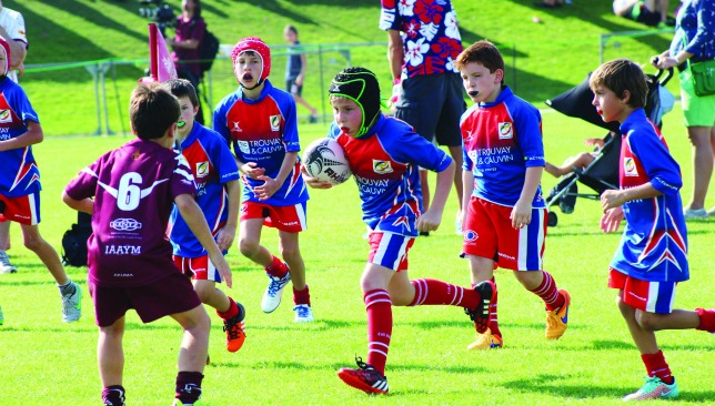 French flair: The club's U-9 team in full flow in Dubai last month.