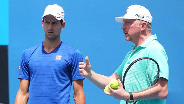 Novak Djokovic and Boris Becker.
