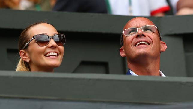 Jelena Djokovic and Novak's agent Edoardo Artaldi.
