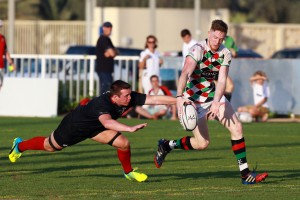 Rugby Match, Exiles vs Quins, in 3, March at Zayed Sports City