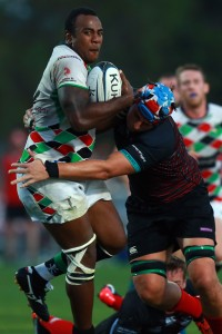 Quins' centre William Umu was key in Quins' win in the WAC against Exiles a few weeks ago