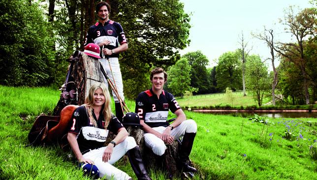 Jaeger-LeCoultre Polo ambassadors Clare Milford Haven, Eduardo Novillo Astrada and Luke Tomlinson.