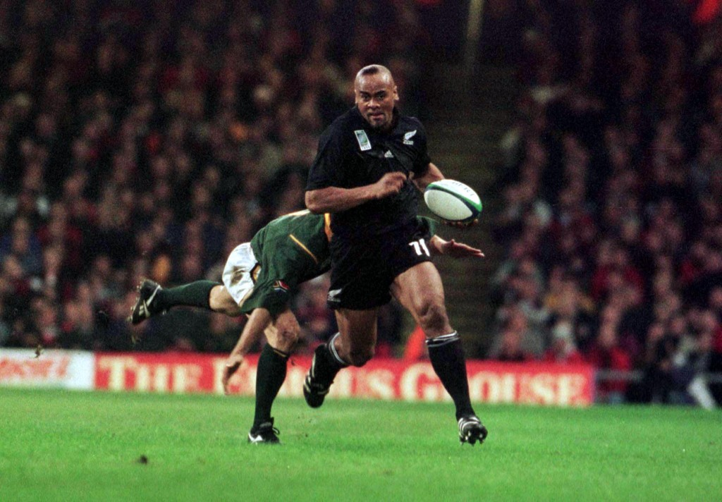 Jonah Lomu jointly shares the record for most tries at a World Cup with eight.