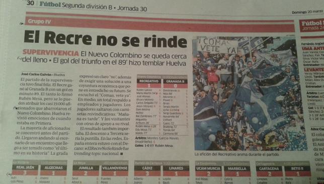 Recreativo-newspaper