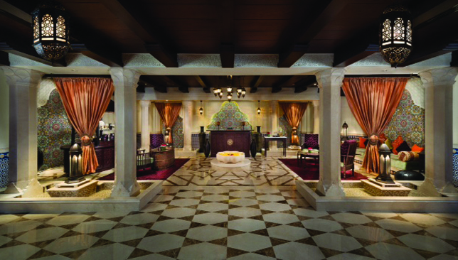 Opulent setting: Lose your fat in the magnificent Emirates Palace spa.