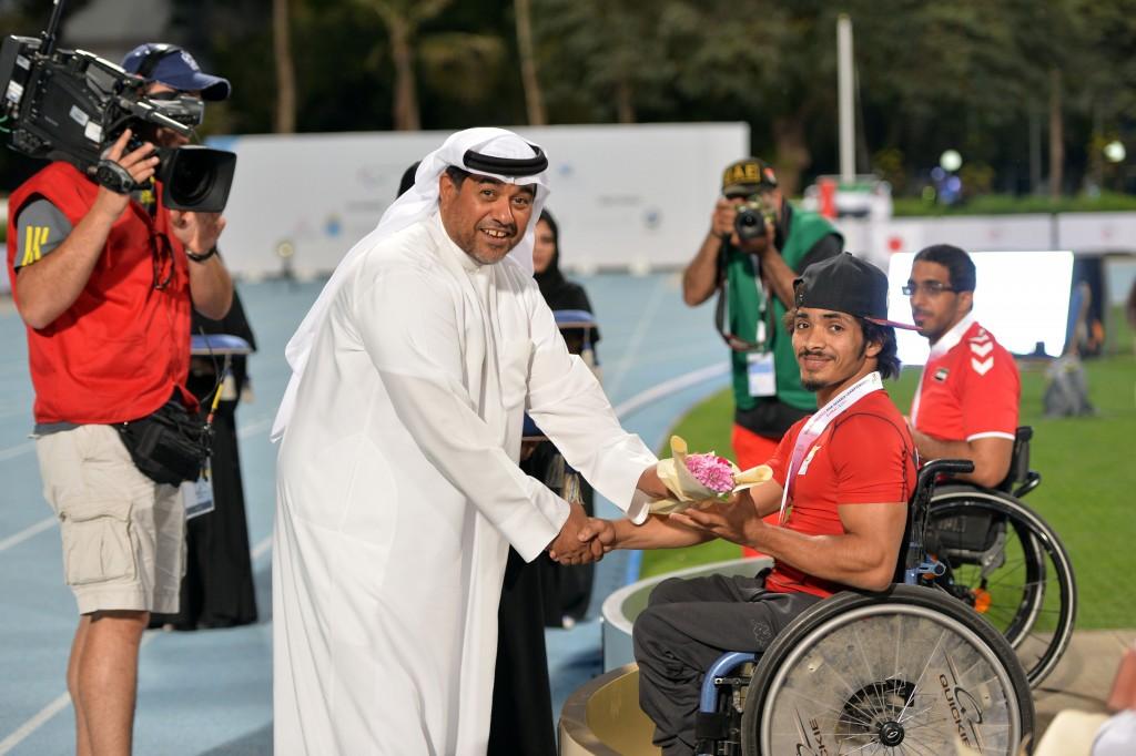 Salem Al Shehhi IPC Athletics Asia Oceania Championships ثاني جمعة يتوج سالم الشيحي بالزهب
