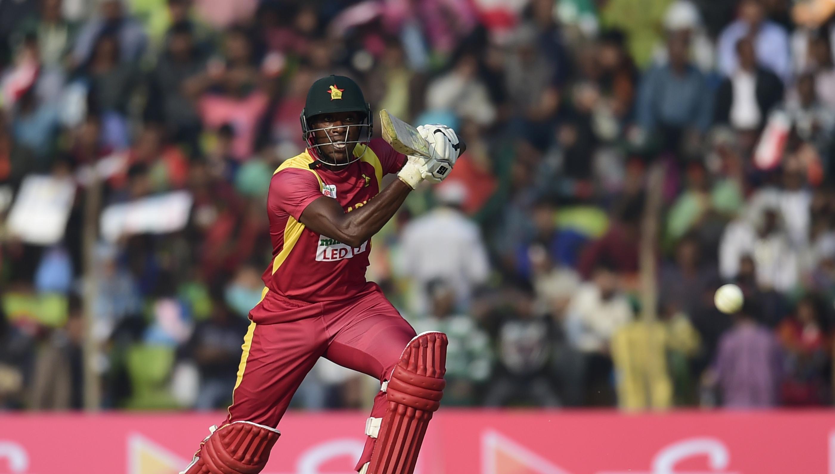 Vusi Sibanda hit a 50 in Zimbabwe's 14-run win over Hong Kong.