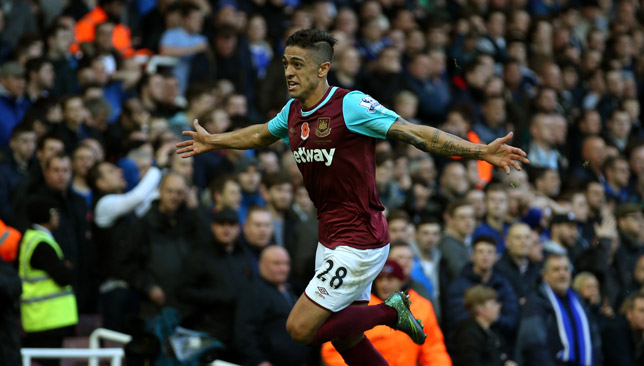 Lanzini is back in light training for West Ham.