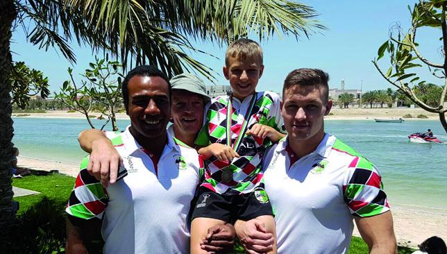 Unity: Abu Dhabi Harlequins seniors and juniors.