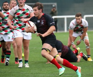 Exiles' Johnny Fawls in action against Quins last week