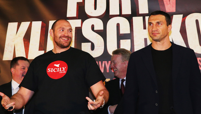 Animosity: Fury and Klitschko.