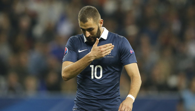 Benzema has not played for France since 2015.