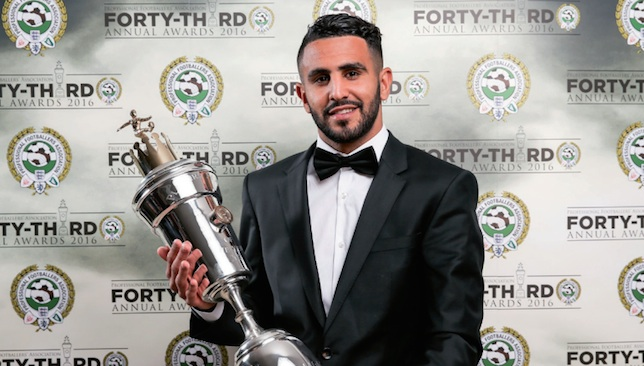 Prized possession: Mahrez is the first African winner of the award.