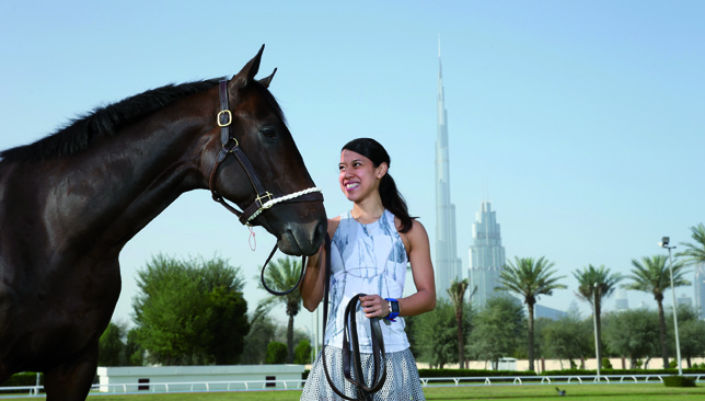 Nicol David visits the Zabeel Racing Stables in Dubai.