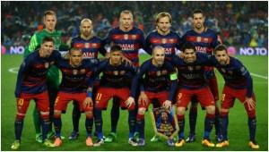 The FC Barcelona Team.