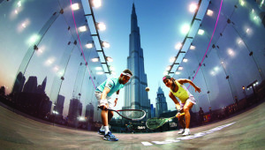 Standing tall: Stars Mohamed Elshorbagy (l) and Nicol David will be in Dubai this week.