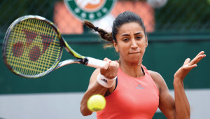 Cagla Buyukakcay became the first Turish woman to win a match at a Grand Slam.