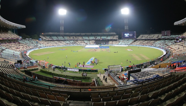 Half-empty: Eden Gardens -pre-game on Sunday evening.