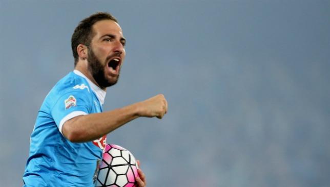 Incoming? Gonzalo Higuain was prolific at Napoli under Sarri.
