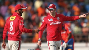 Taking over: Kings XI Punjab took the captaincy reins from David Miller (r) and handed it to Murali Vijay (l).