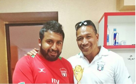 UAE coaches Apollo Perelini and Yousuf Shaker [Credit: UAE Rugby Twitter]