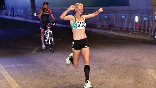 Finland's Hyrykainen celebrates Women's Open win.