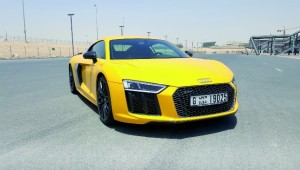 The 5.2-litre V10 Audi R8 V10 plus.