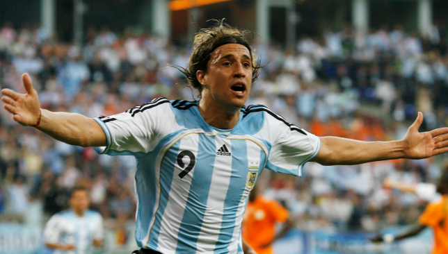Hernan Crespo is Argentina's fourth highest scorer of all time with 35 goals.