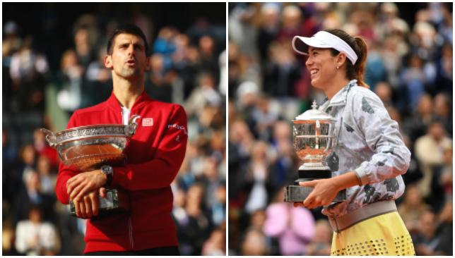 Novak Djokovic and Garbine Muguruza