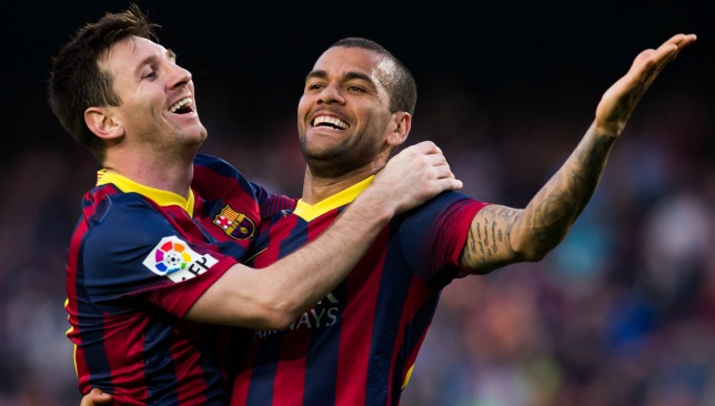 ed3bf65d991 Watch Dani Alves talk about impact of Lionel Messi on Barcelona success