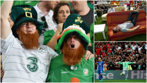 Irish fans (l) have made quite the impression.