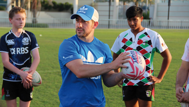 Laidlaw with Abu Dhabi Harlequins youngsters.