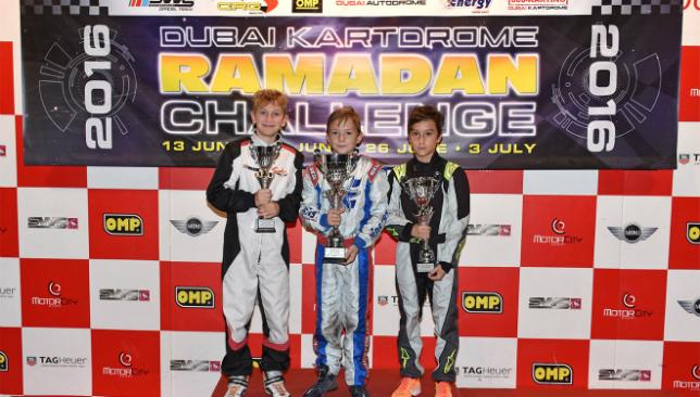 The Junior Karting winners.
