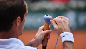 Gasquet has made a name for himself regripping his racquet.