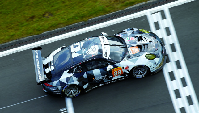 Too fast: Abu Dhabi-Proton Racing.