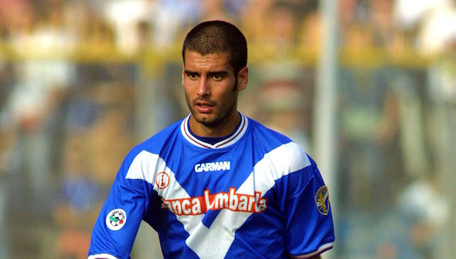 Pep Guardiola during his time at Brescia.