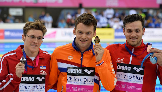 Stjepanovic (l) with European silver.