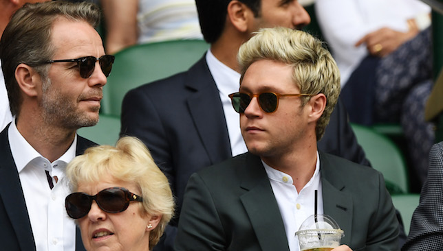 Taking in the action: Niall Horan.