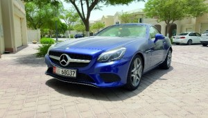 The 2-litre Mercedes SLC 200.