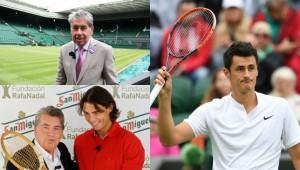 Santana's famous Wimbledon win is remembered plus Tomic's outburst.