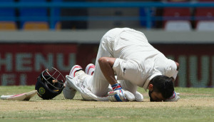 Kohli scored his maiden double ton in Tests.