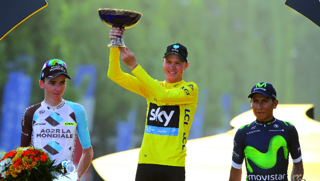 Chris Froome continued Sky's dominance of the race, winning in 2013 and three times in a row from 2015-17.