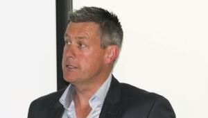 a new kind of pitch: Former England spinner and current MSd student Ashley Giles.