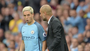 Working through issues: Nasri and Guardiola.