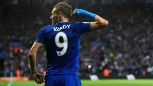 Jamie Vardy netted his first goal of the season.
